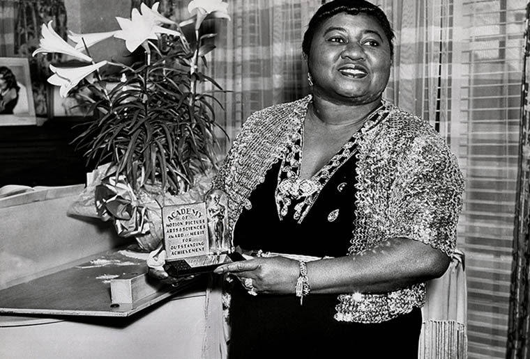 Hattie McDaniel, the first African American to win an Oscar